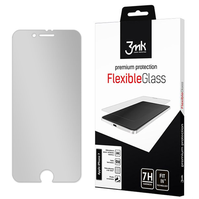 Szkło hybrydowe 3mk Flexible Glass dla Apple iPhone 8