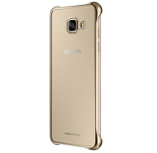 Etui Samsung Clear Cover Galaxy A5 2016 gold, złote