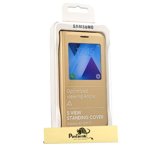 Etui Samsung S-View Standing Cover Galaxy A5 2017, złote