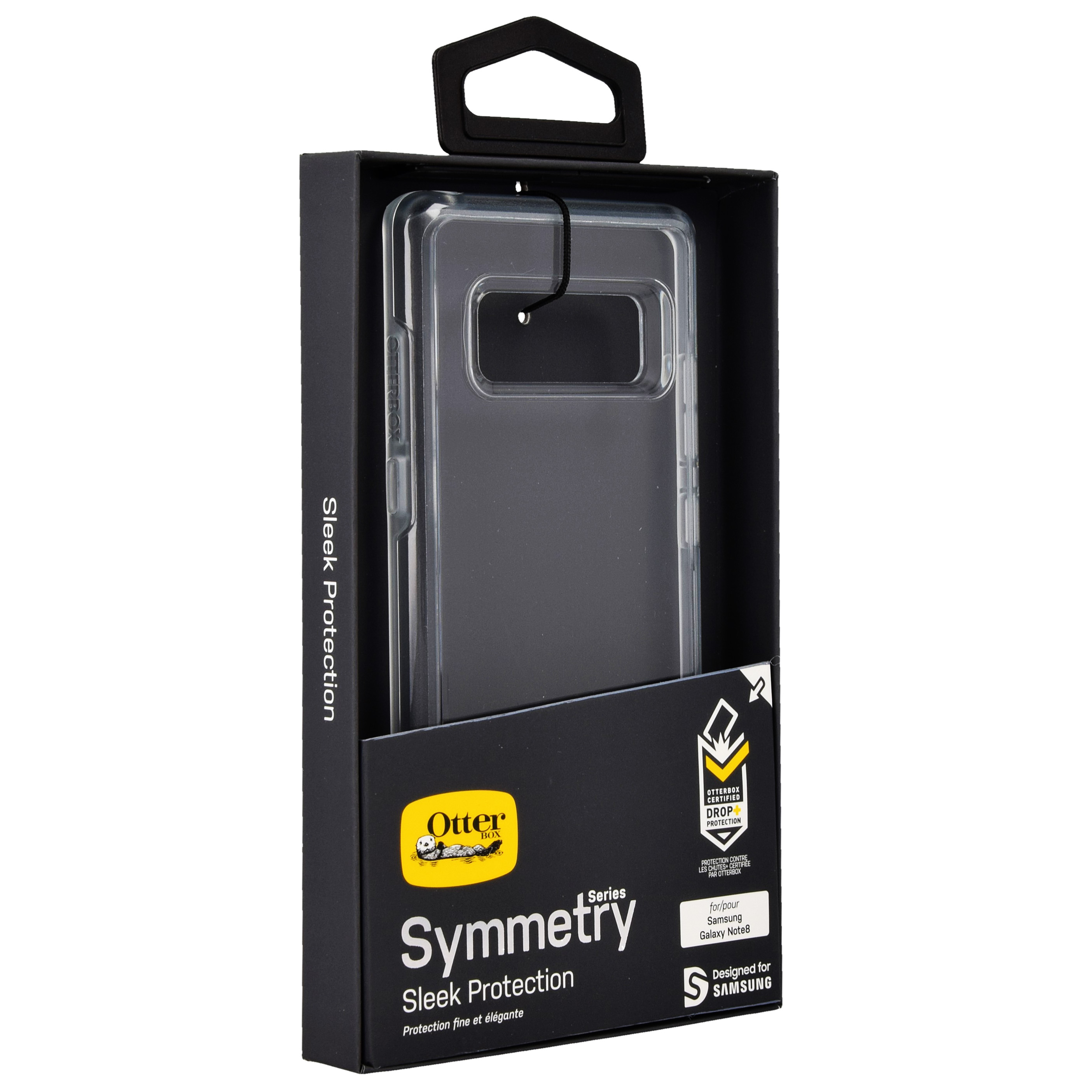 Etui pancerne OtterBox Symmetry Series do Galaxy Note 8, przezroczyste.