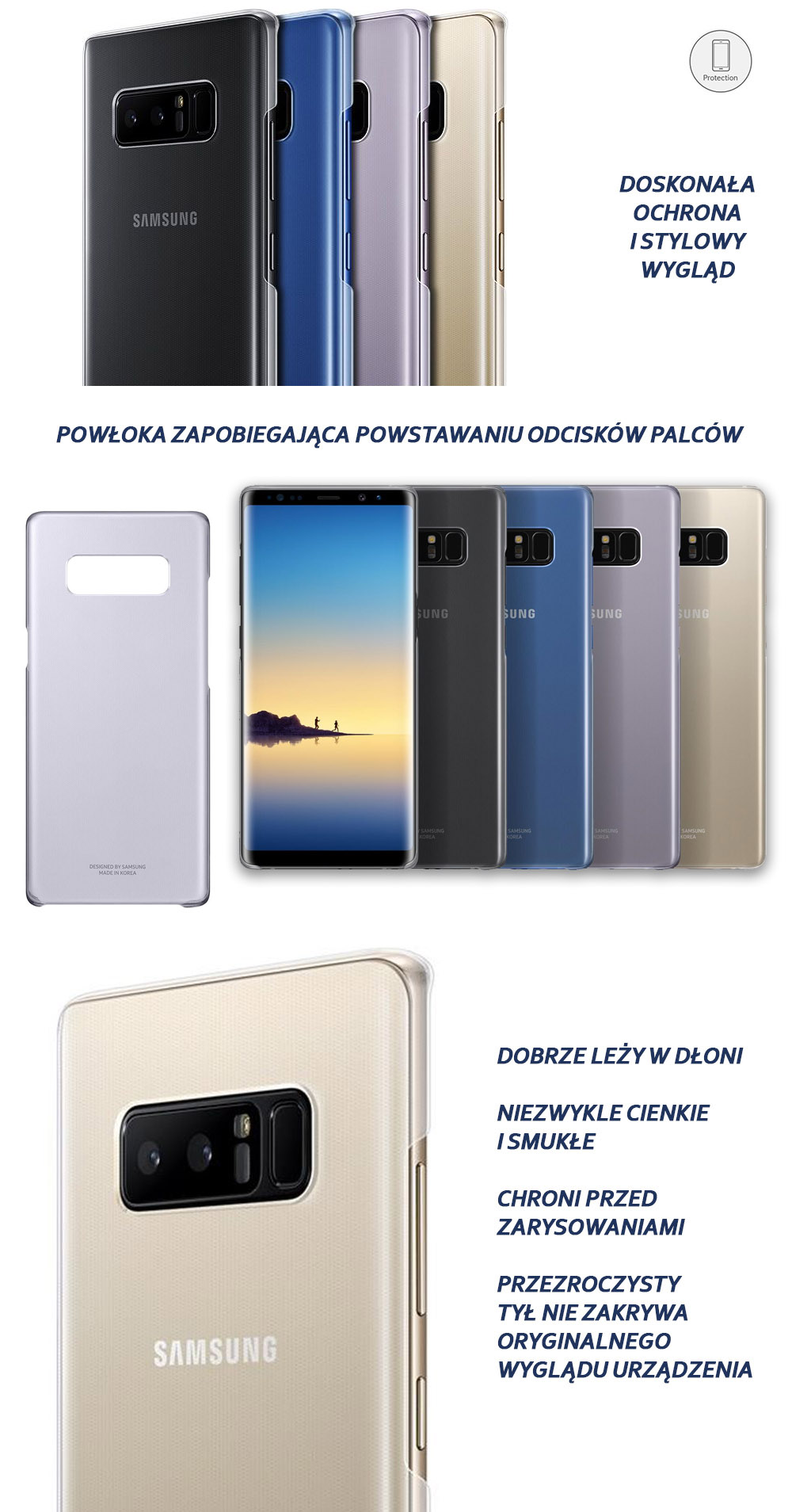 Etui Samsung Clear Cover do Galaxy Note 8