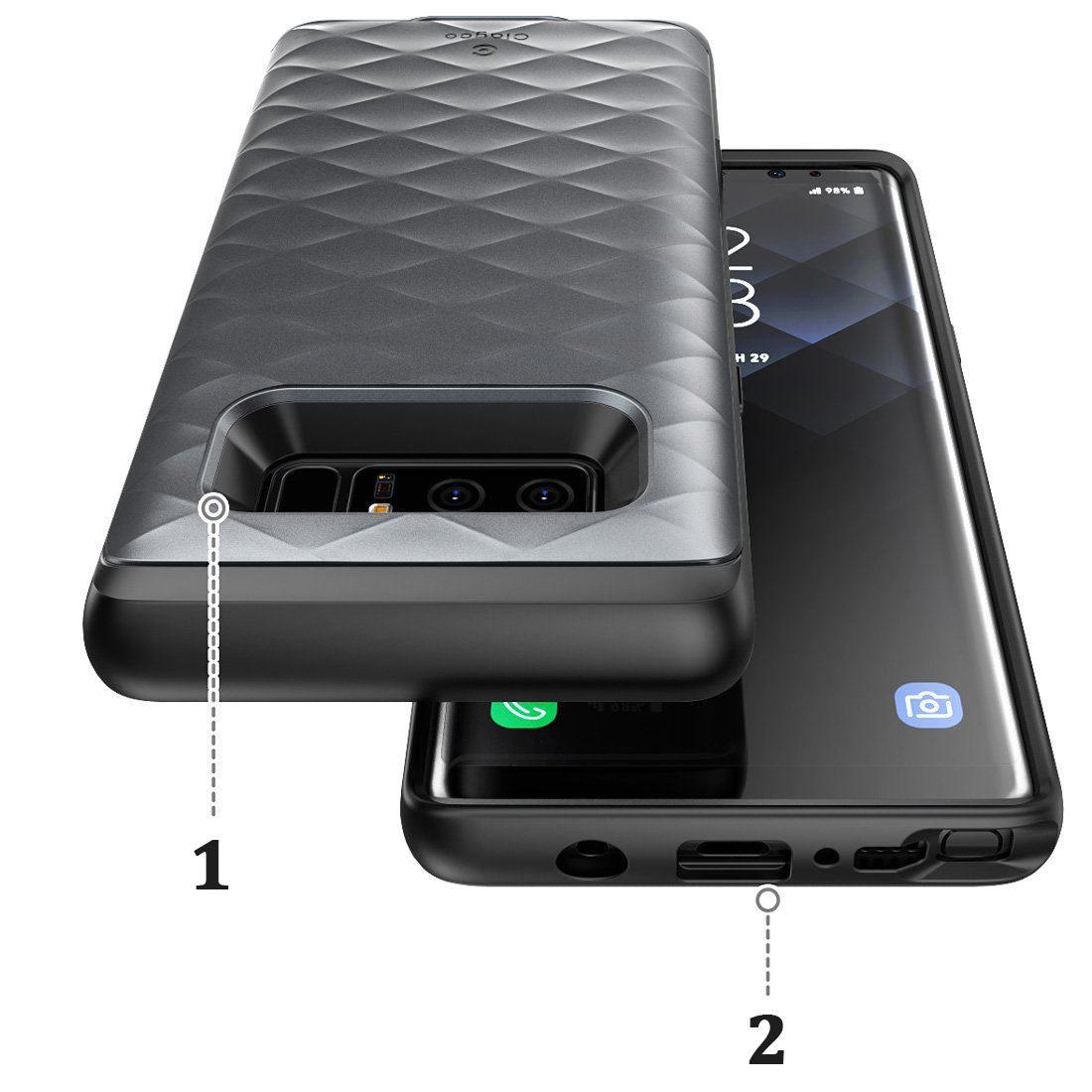 Etui pancerne Supcase Clayco Argos do Galaxy Note 8