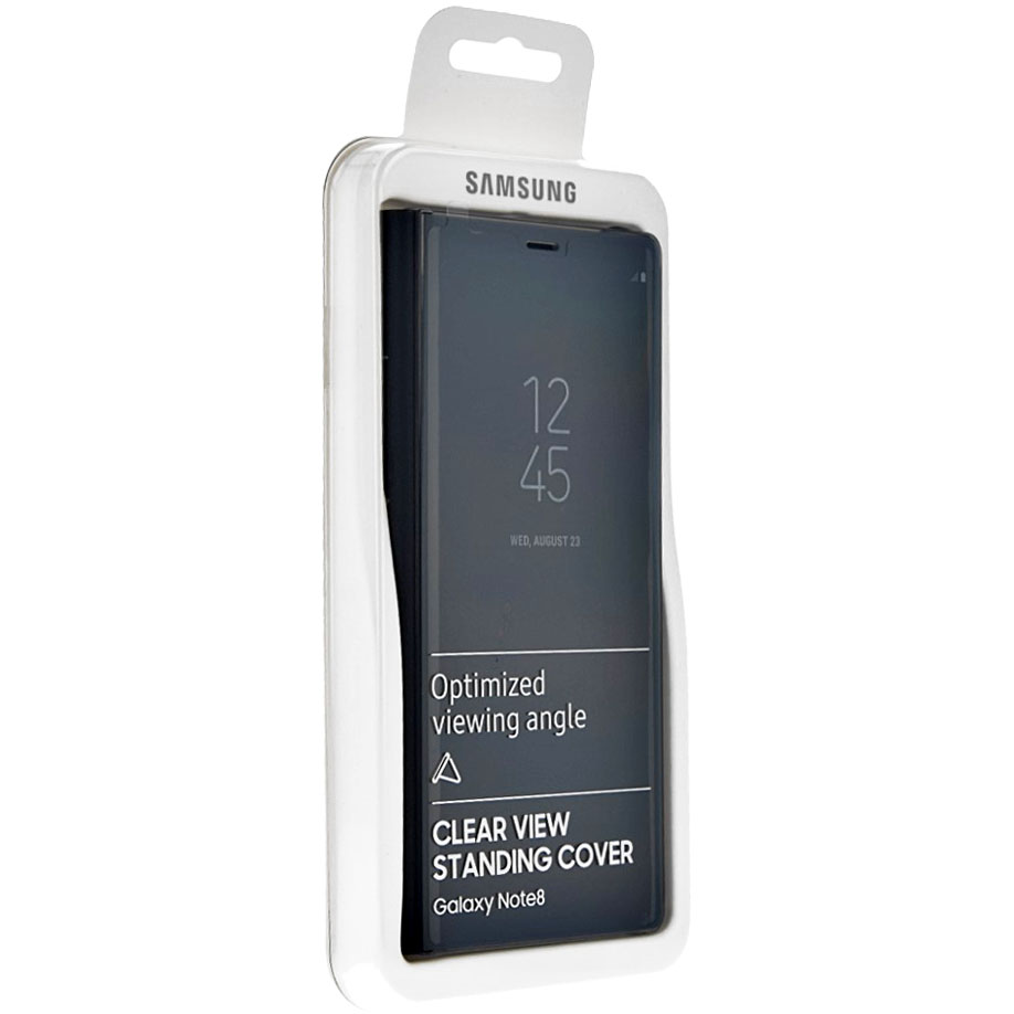 Etui z klapka funkcyjną Samsung Clear View Standing Cover do Galaxy Note 8, czarne (Black). .