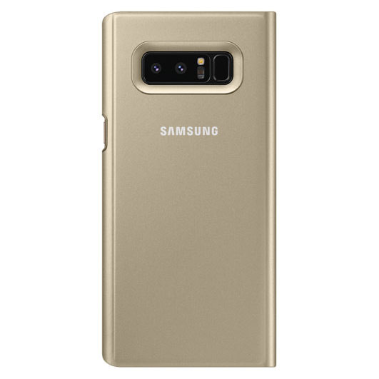 Etui z klapka funkcyjną Samsung Clear View Standing Cover do Galaxy Note 8, złote (Gold). .