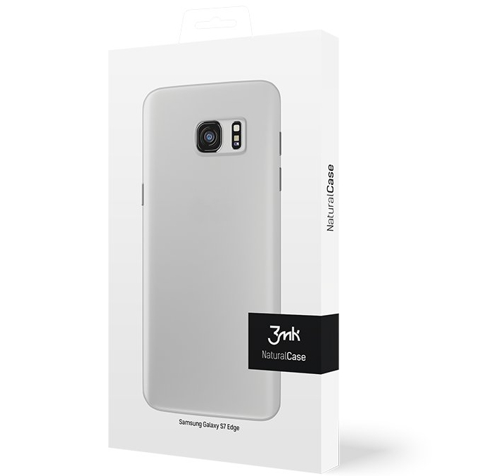 Cienkie etui 3mk NaturalCase 0,3mm do Samsung Galaxy S7 Edge, transparentne białe (White). .