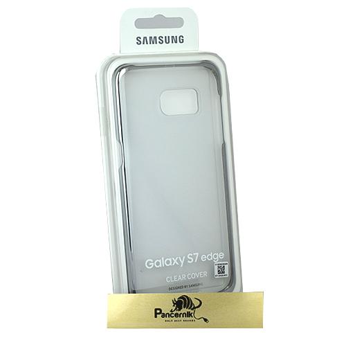 Clear cover samsung galaxy s7 edge srebrne