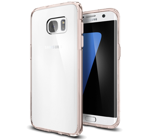 Etui Spigen ultra hybrid galaxy s7 edge ROSE CRYSTAL