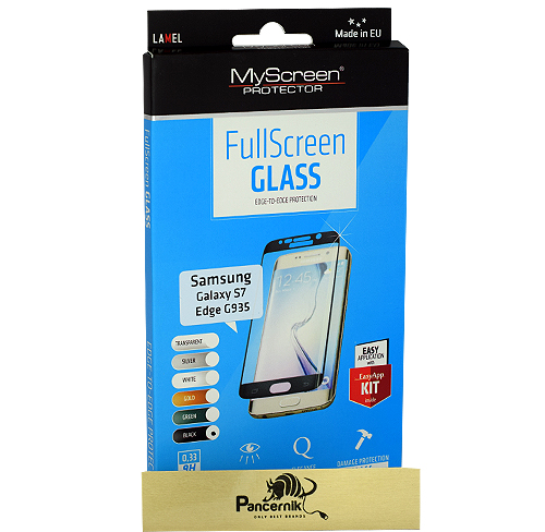 MyScreen FullScreen Glass Samsung Galaxy S7 Edge czarne szkło