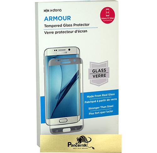 Szkło hartowane X-Doria Armour Samsung galaxy S7 Edge gold srebrne