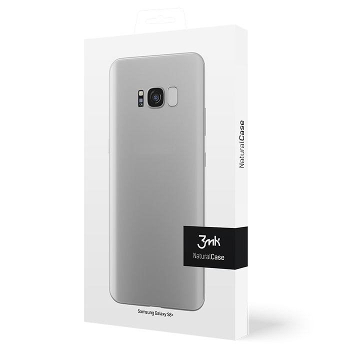 Cienkie etui 3mk NaturalCase 0,3mm do Samsung Galaxy S8+,transparentne białe (White).