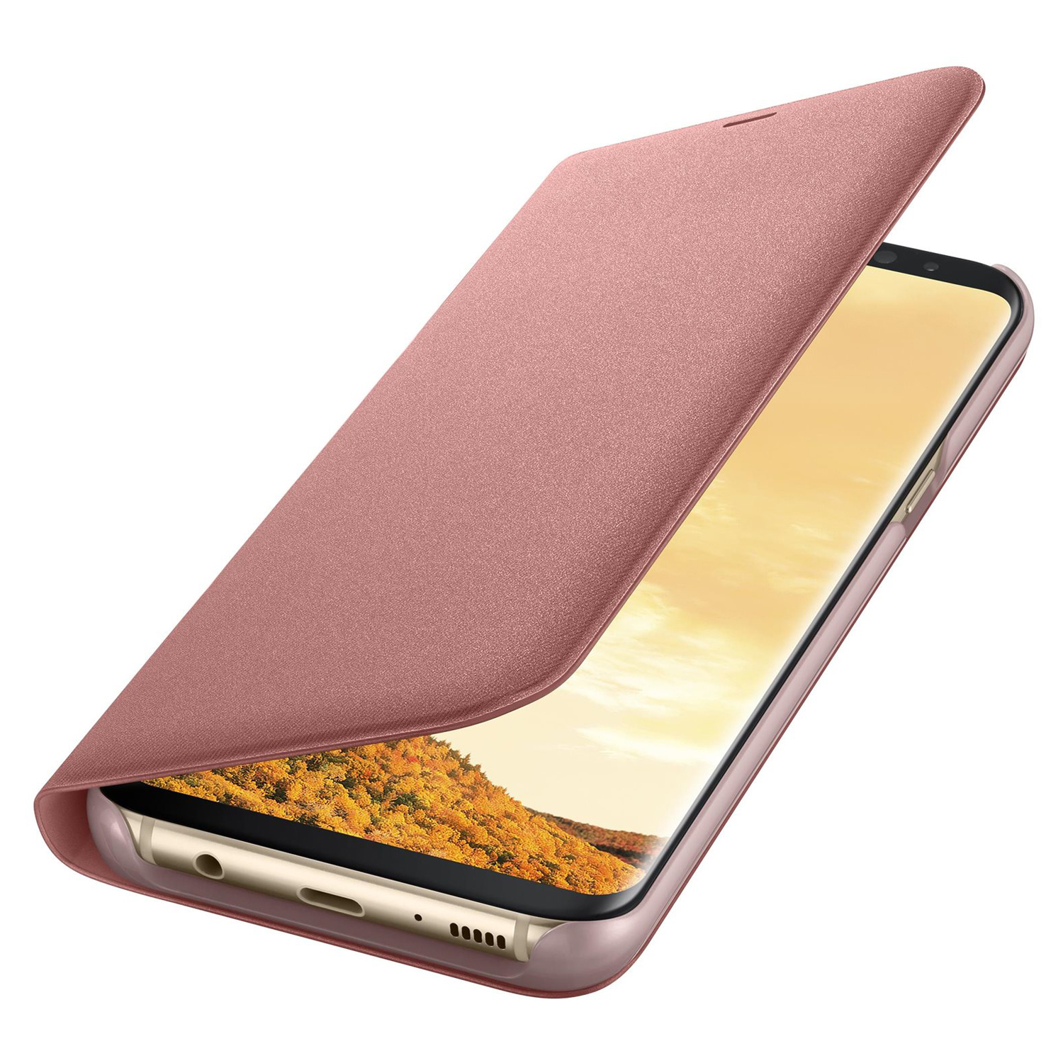 etui samsung led view cover galaxy s8 plus r owe pink. Black Bedroom Furniture Sets. Home Design Ideas