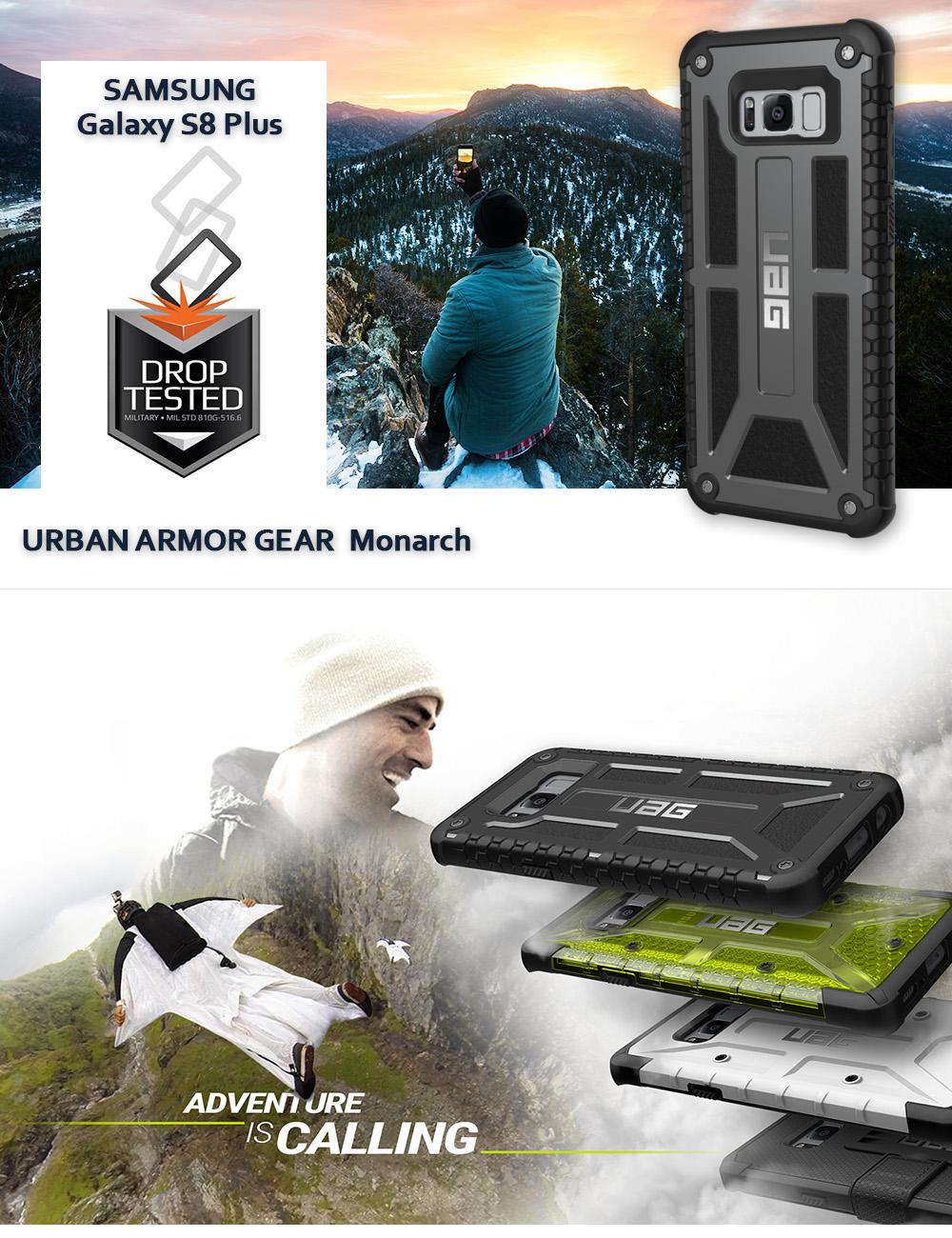 Etui Urban Armor Gear Monarch Galaxy S8 Plus Grafitowe Graphite Uag Case For Dla