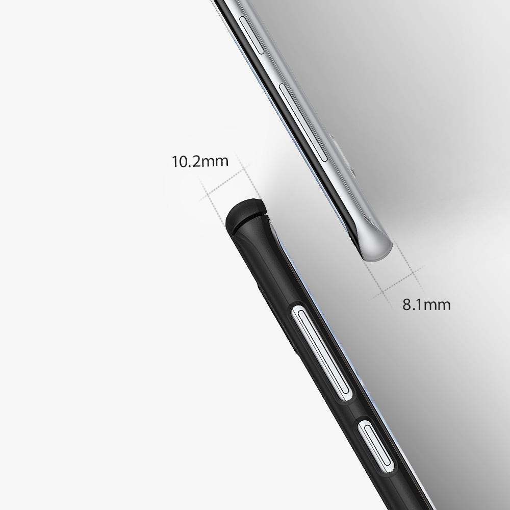 Bardzo cienkie etui Rearth Ringke Slim dla Samsung Galaxy S8+ Plus w kolorze złotym.