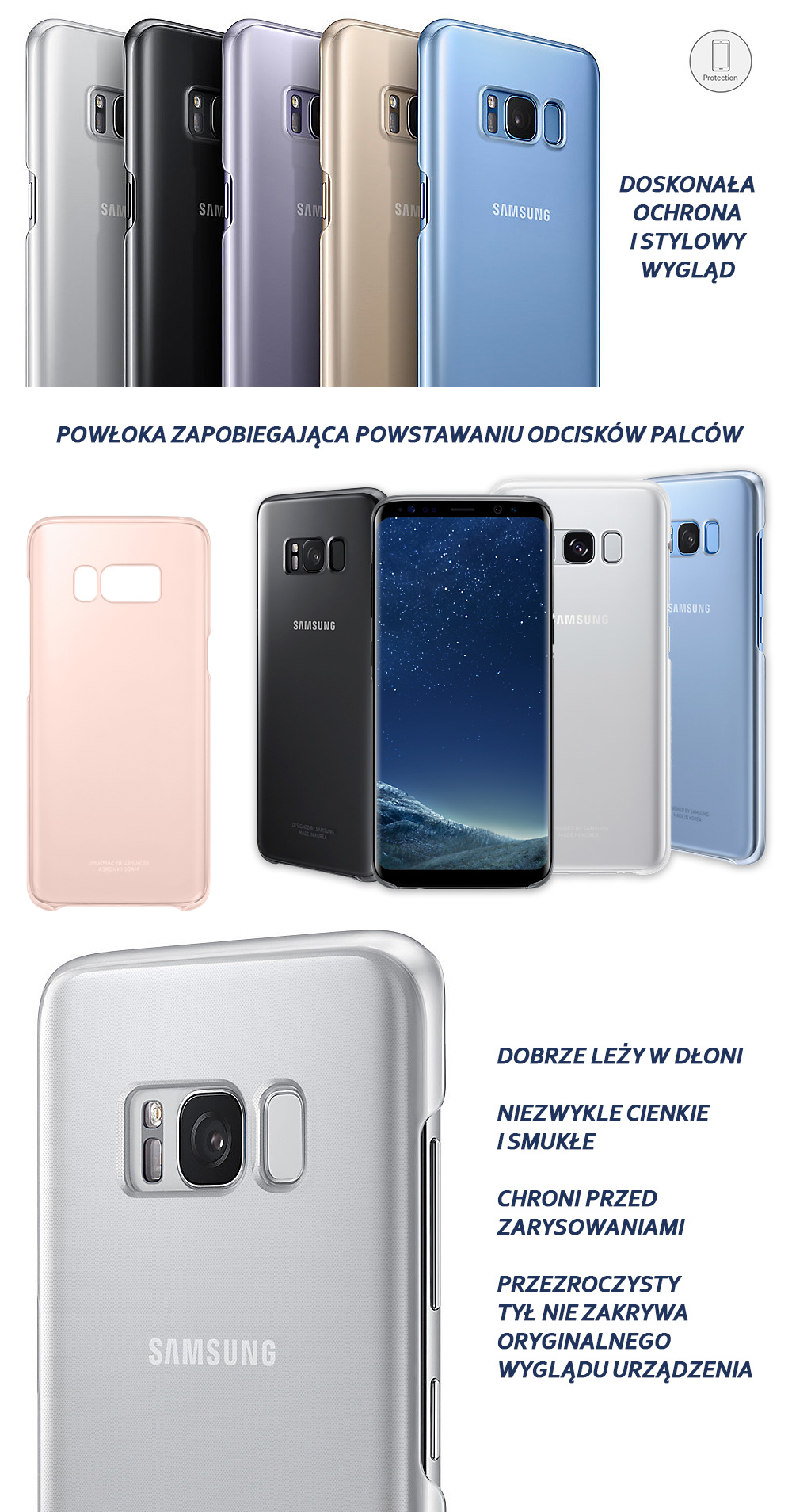 Etui Samsung Clear Cover do Galaxy S8 Plus