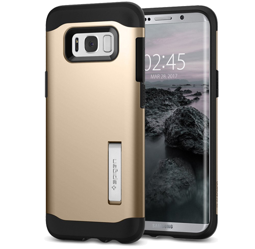 Spigen slim armor galaxy s8  gold maple