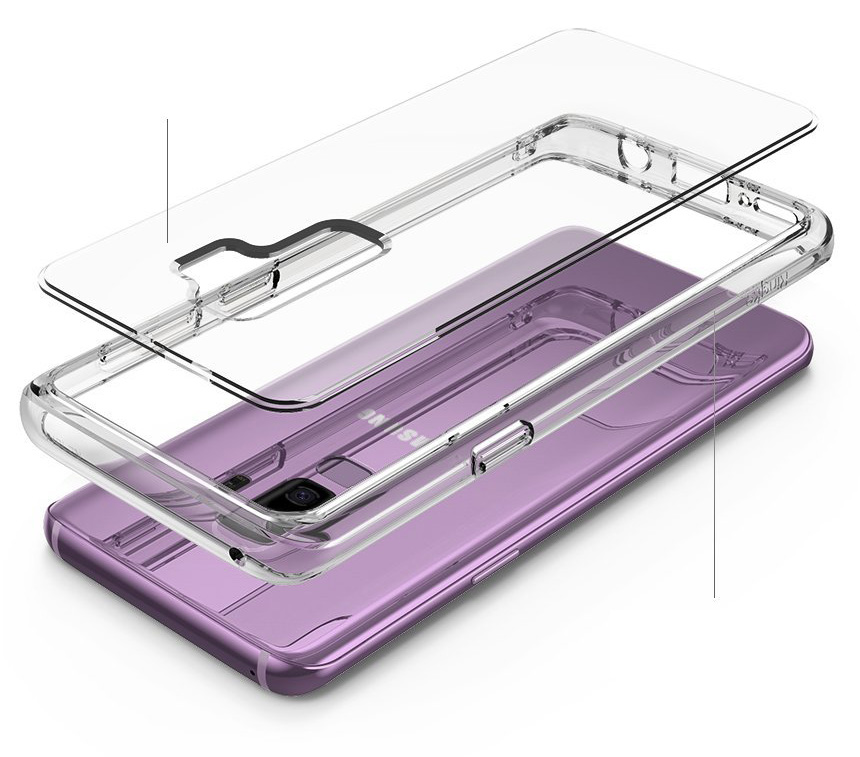 Etui Rearth Ringke Fusion do Galaxy S9 Plus, przezroczyste.