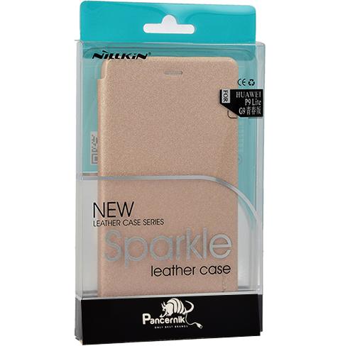 Etui Nillkin SPARKLE Leather Case Huawei P9 Lite, złote