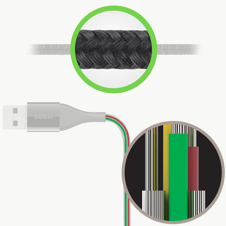 Kabel Belkin DuraTek Plus with Strap USB-A/Lightning 3m