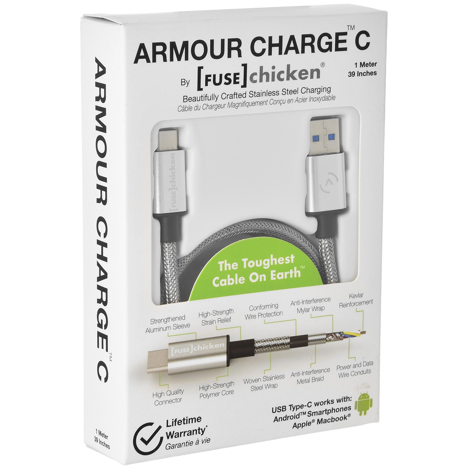 Kabel Fuse Chicken Armour Charge C, USB-USB-C, 1m
