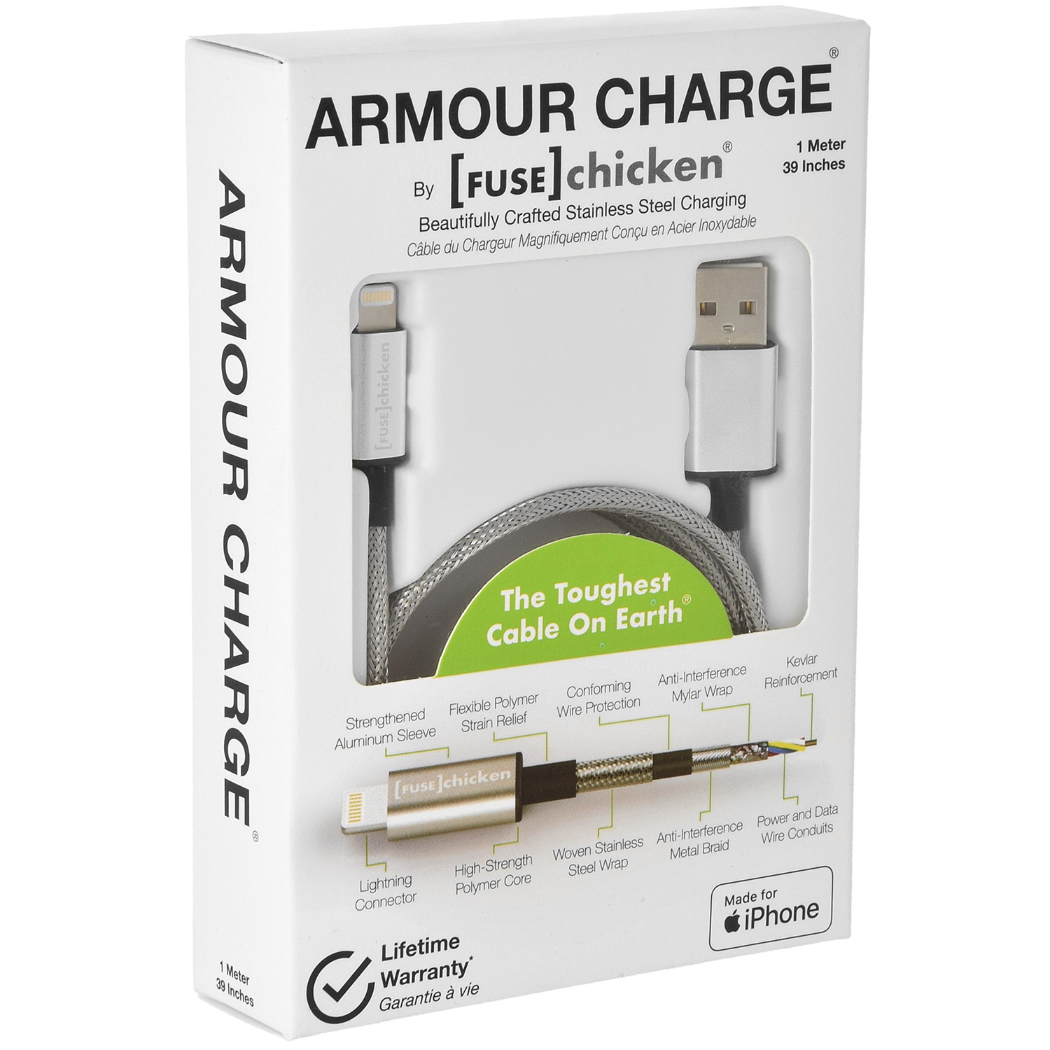 Kabel Fuse Chicken Armour Charge, USB-Lightning, 1m
