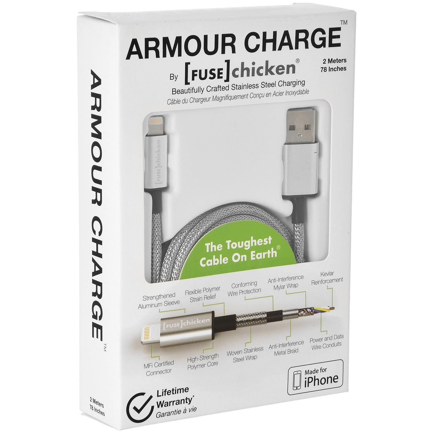 Kabel Fuse Chicken Armour Charge, USB-Lightning, 2m