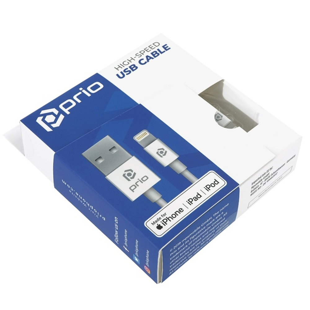 Kabel Prio Fast Charge USB-A do Lightning