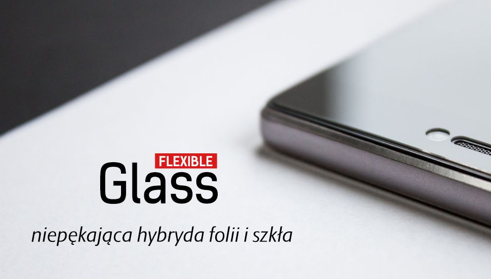 Szkło hybrydowe 3mk Flexible Glass dla Apple iPhone 8 Plus.