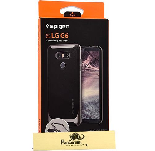 Etui Spigen Neo Hybrid LG G6, stalowe