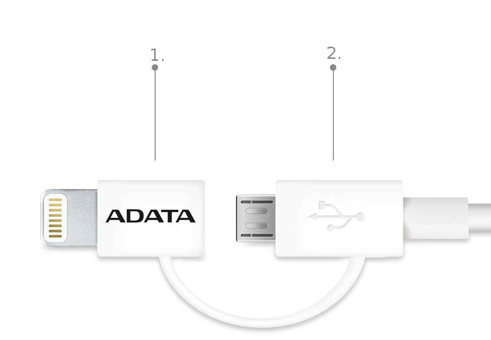 Kabel Adata Sync Charge Cable 2 in 1