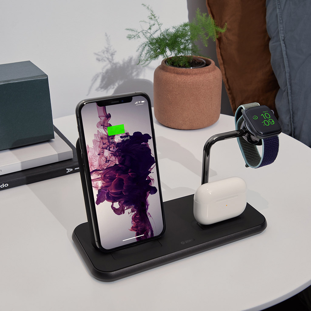Ładowarka Zens Stand+Dock+Watch dla Apple AirPods, Apple Watch, Apple iPhone