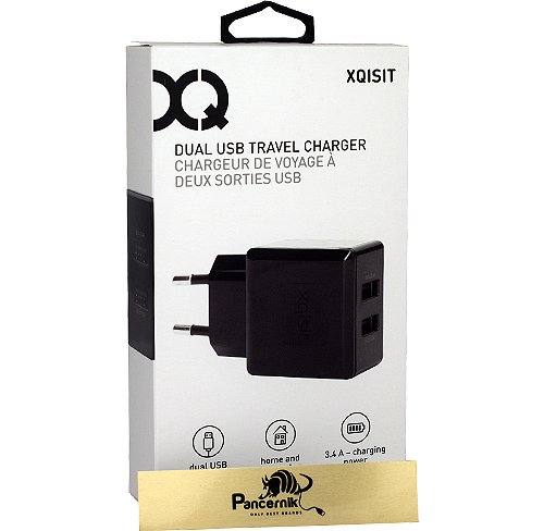 Xqisit Dual USB Travel Charger czarna