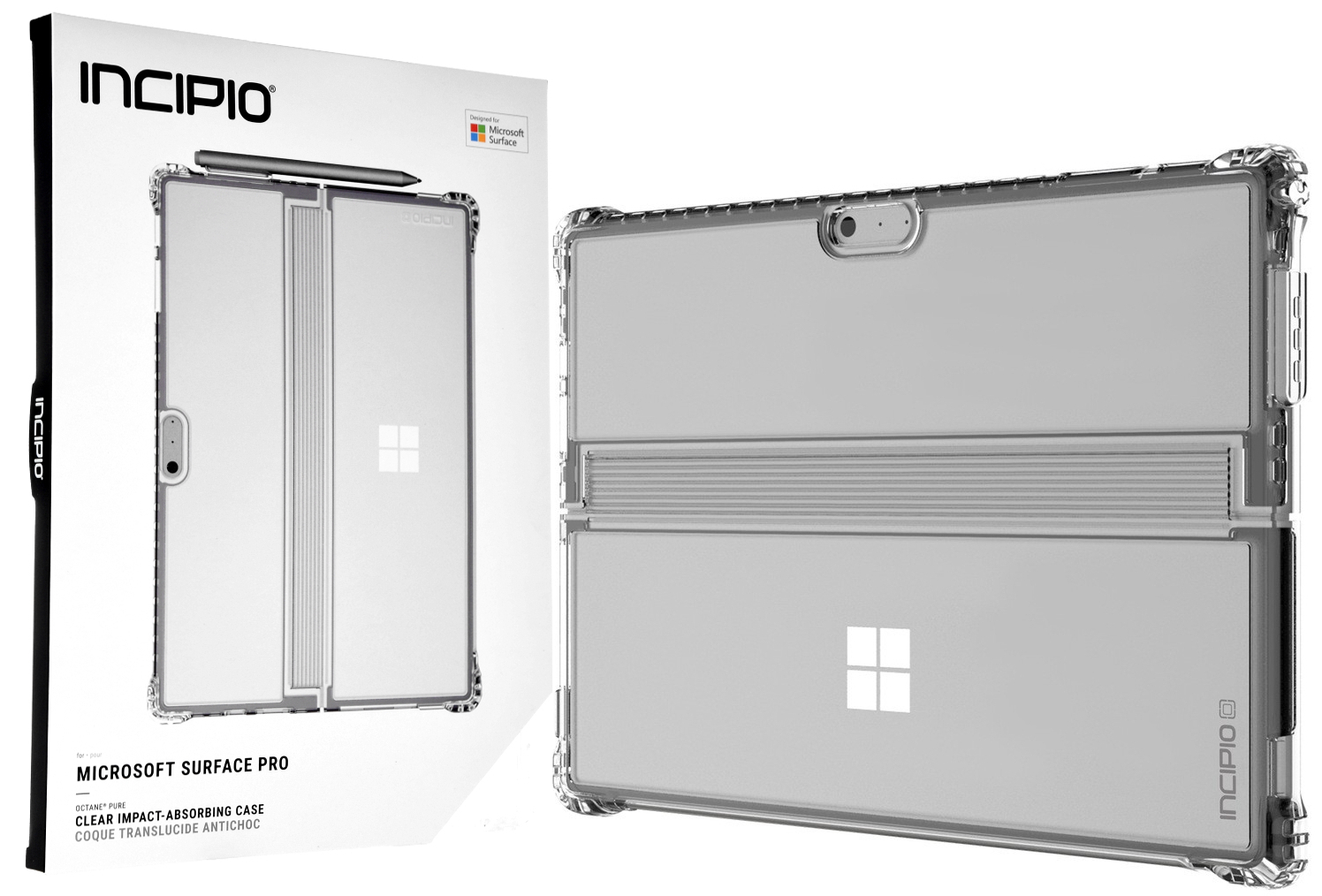 super popular d88fd ca7b0 Etui Incipio Octane Pure Microsoft Surface Pro 2017/ Pro 4, przezroczyste