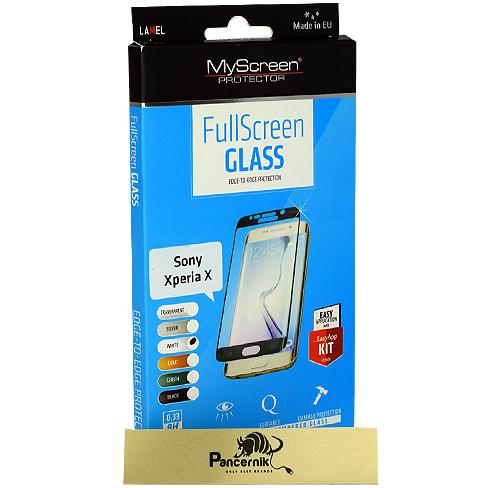 MyScreen FullScreen Glass Sony Xperia X  białe szkło