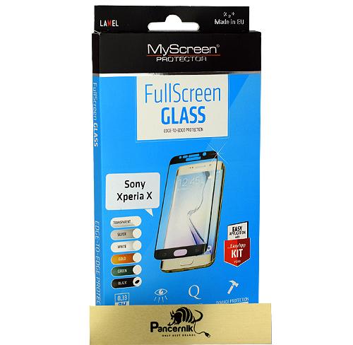 MyScreen FullScreen Glass Sony Xperia X  czarne szkło