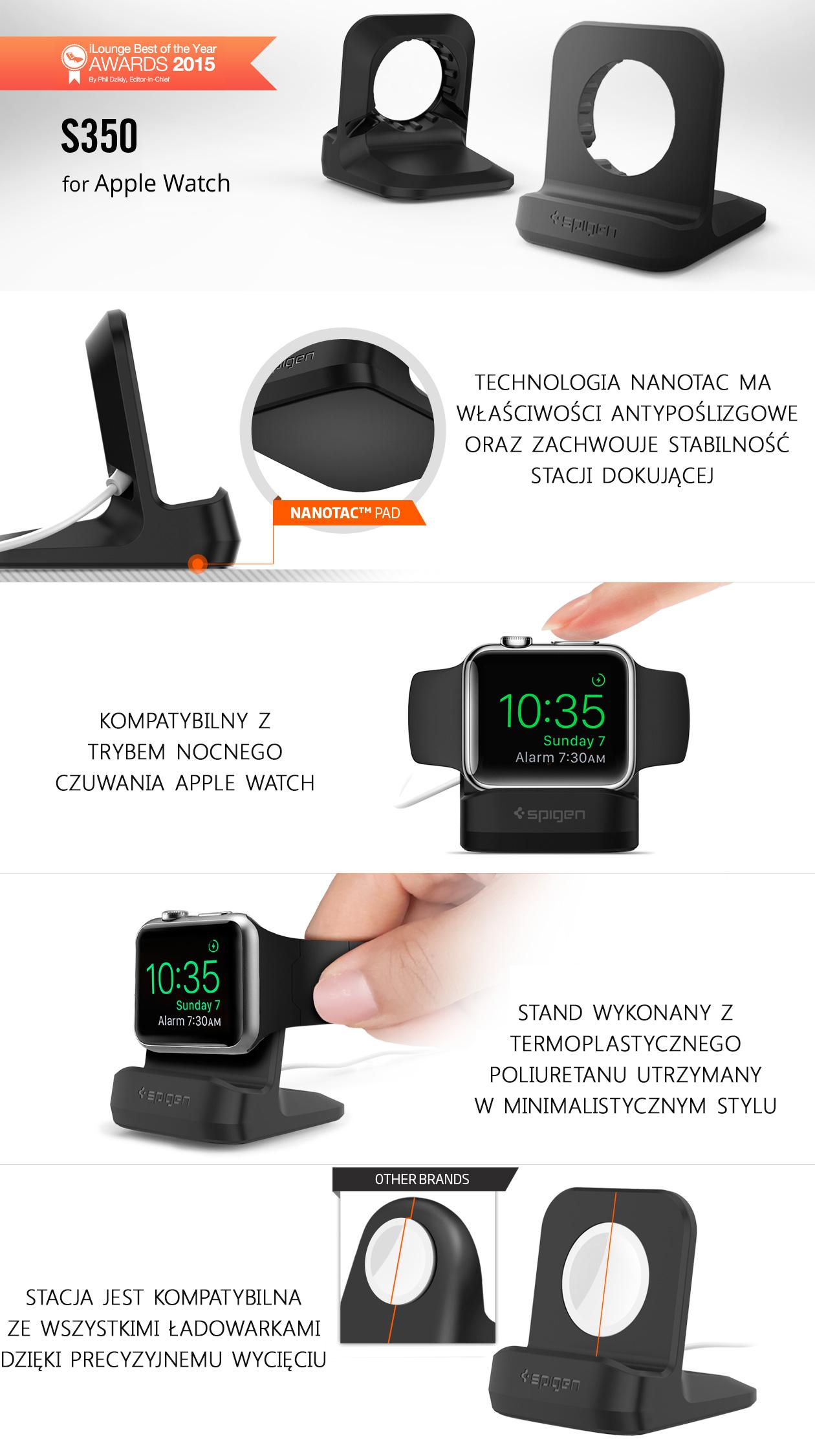 Stacja dokująca Spigen Apple Watch Stand S350,
