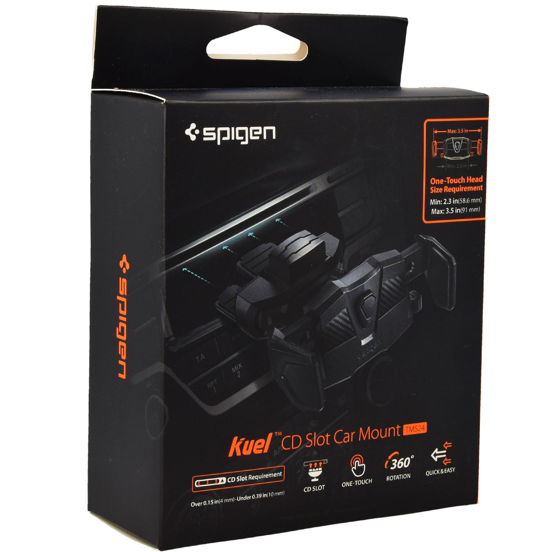 cheaper 64195 9c389 Uchwyt samochodowy Spigen Kuel Car Mount CD Slot Type TMS24 (58.6-91mm),  czarny