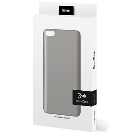 Cienkie etui 3mk NaturalCase 0,3mm do Xiaomi Mi5, transparentne czarne (Black).