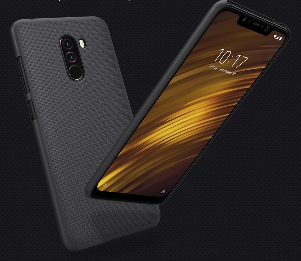 Etui Nillkin Frosted Shield do Xiaomi Pocophone F1, czarne
