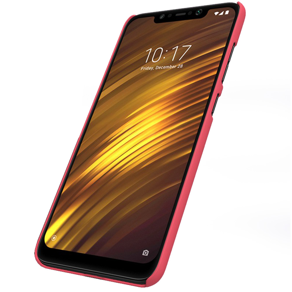 Etui Nillkin Frosted Shield do Xiaomi Pocophone F1, czerwone