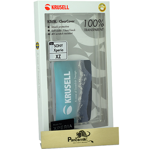Krusell kivik Clear Cover Sony xperia xz przezroczyste etui