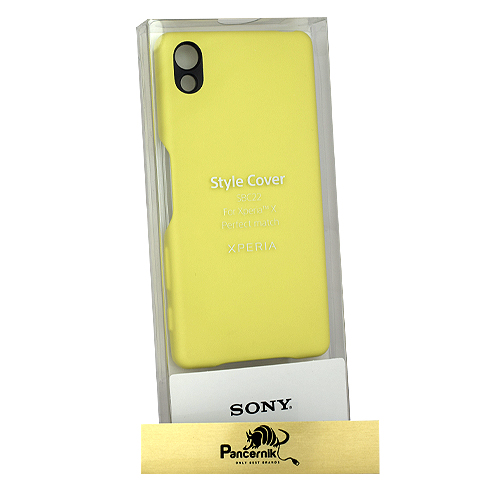 Etui Sony Style Cover  limonkowe złoto x peria x