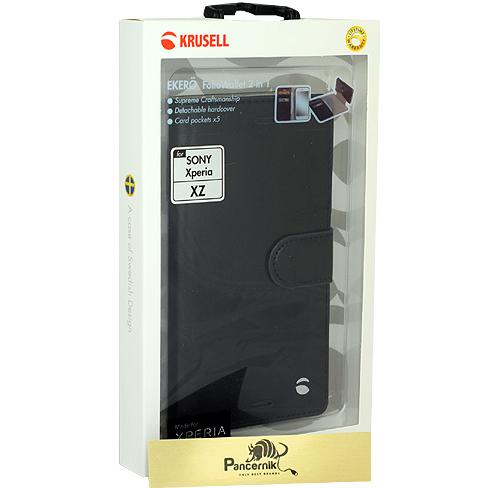 Etui Krusell Ekero FolioWallet 2w1 czarne Sony Xperia XZ