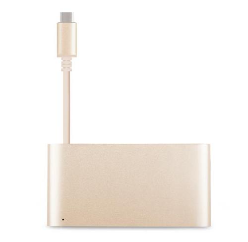 Adapter, przejściówka Moshi USB-C Multiport Adapter  Macbook Retina 12 Pro Retina 13 15 2016  silver, gold, rose