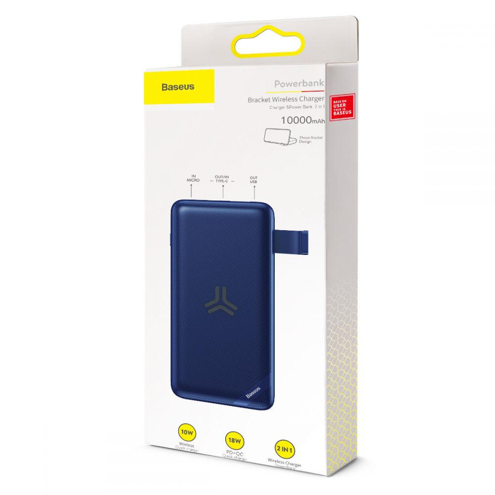 Oryginalna bateria Baseus S10 Bracket Power Bank 10000mAh