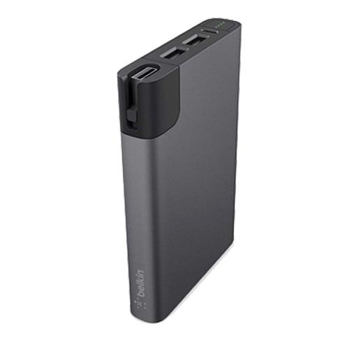 bateria powerbank łądowarka Belkin Mixit Power RockStra 10000 mah  24w 4.8 amp silver, szara