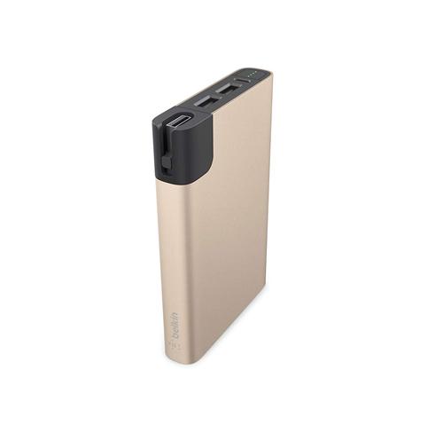 bateria powerbank łądowarka Belkin Mixit Power RockStra 10000 mah  24w 4.8 amp gold złota