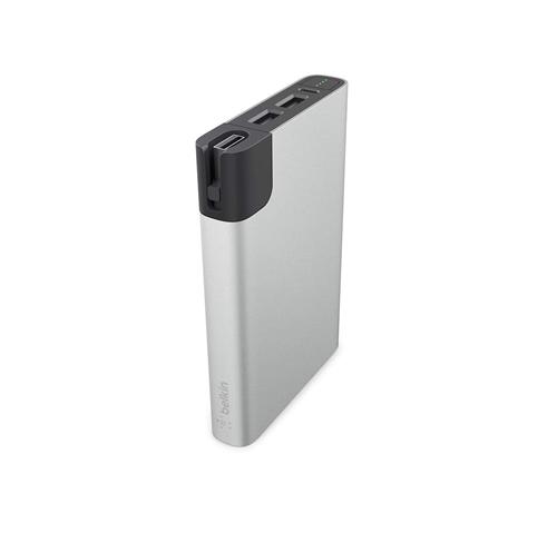 bateria powerbank łądowarka Belkin Mixit Power RockStra 10000 mah  24w 4.8 amp silver, srebrna