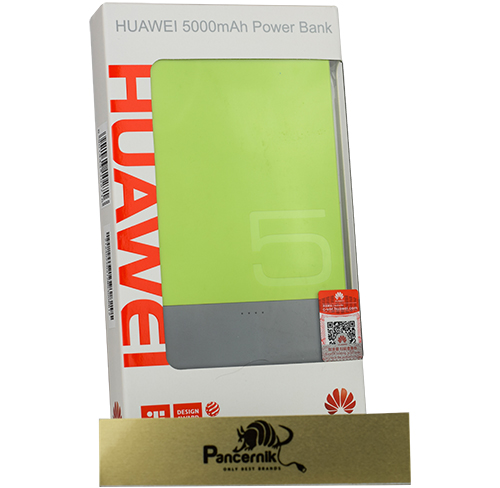 Bateria Huawei Ultra Slim Power Bank 5000 mAh, zielona