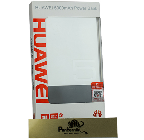 Bateria Huawei Ultra Slim Power Bank 5000 mAh, biała