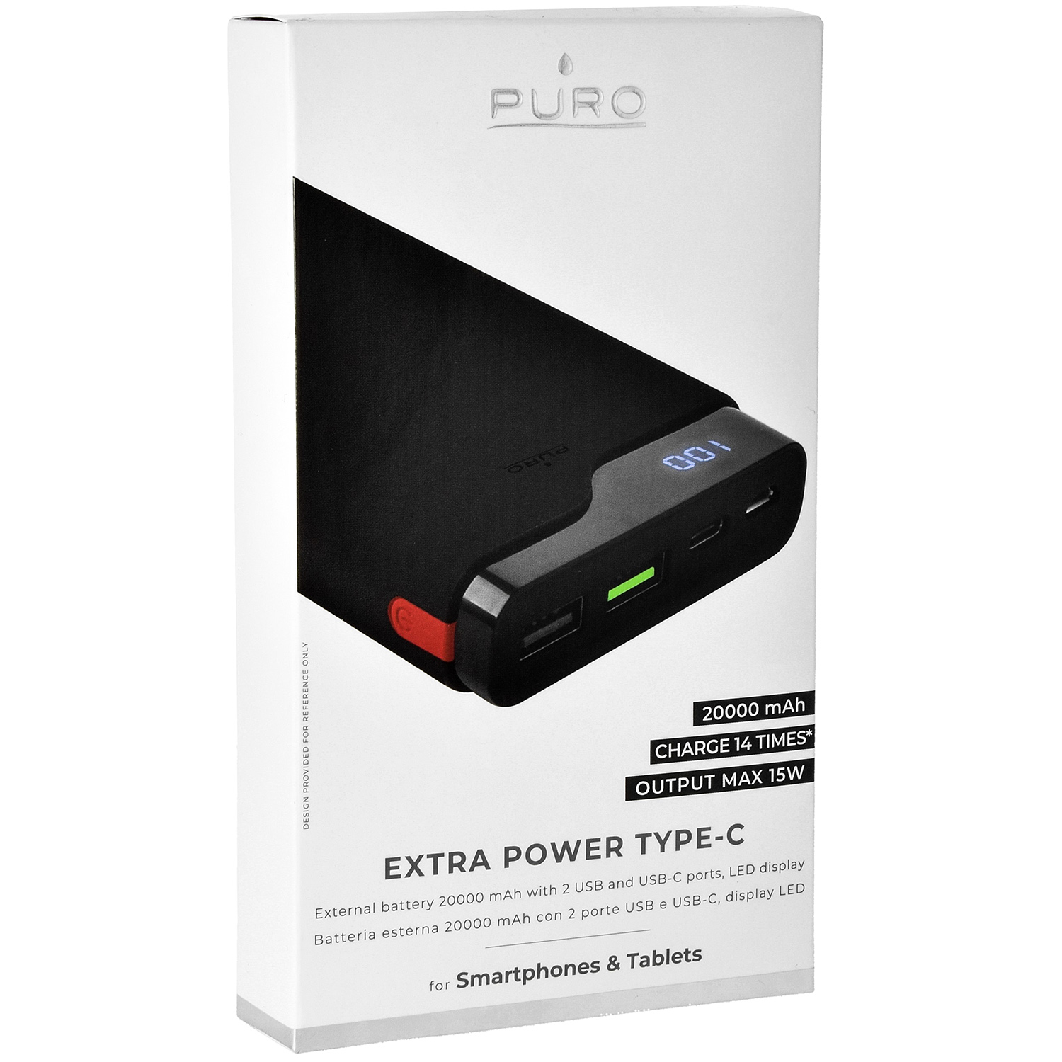 Oryginalna bateria Puro Power Bank Fast Charger USB-C 20000mAh